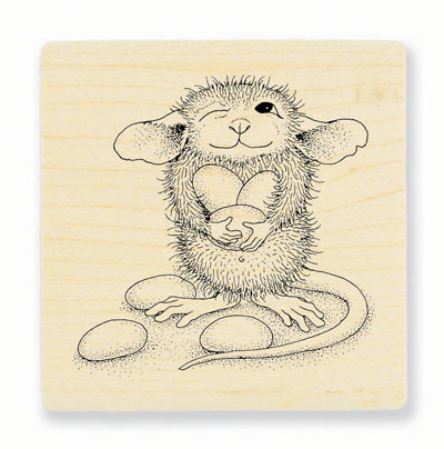 JELLY BEAN THIEF - House-Mouse Rubber Stamp