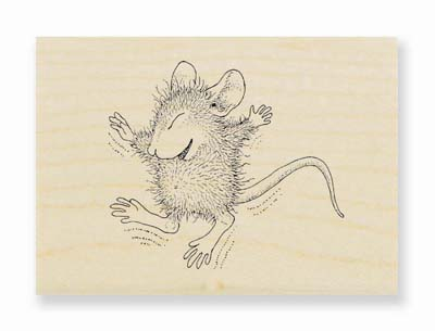 TINY JUMPER - House-Mouse Rubber Stamp