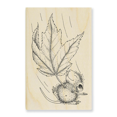 FALL FLOAT - House-Mouse Rubber Stamp