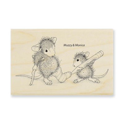 Cast Coloring - House-Mouse Rubber Stamp