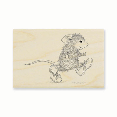 TINY RUNNER - House-Mouse Rubber Stamp