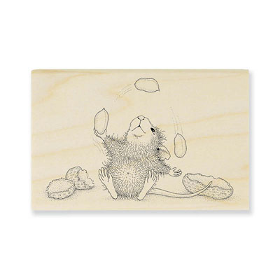 PEANUT JUGGLE - House-Mouse Rubber Stamp