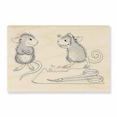 Monster Mouse - House-Mouse Rubber Stamp