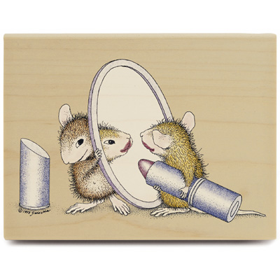 Lipstick - House-Mouse Rubber Stamp
