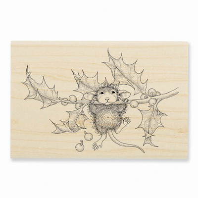 CHIN UP - House-Mouse Rubber Stamp