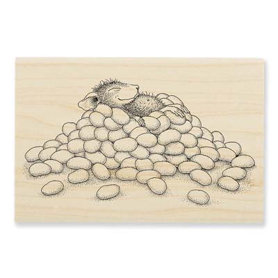 JELLY BEAN NAP - House-Mouse Rubber Stamp