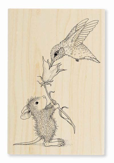 HUMMINGBIRD FEEDER - House-Mouse Rubber Stamp