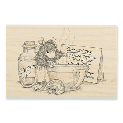 Cure All Tea Rubber Stamp - House-Mouse Rubber Stamp