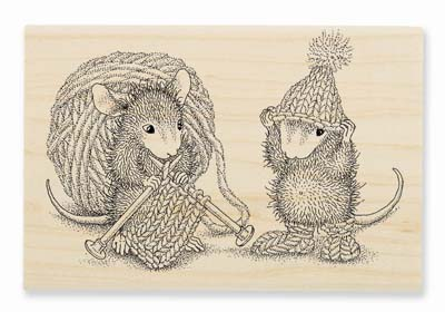 KNIT GIFT - House-Mouse Rubber Stamp