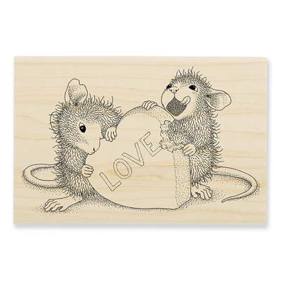 Love Treat Rubber Stamp - House-Mouse Rubber Stamp