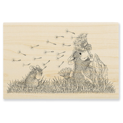 Windy Wish Rubber Stamp - House-Mouse Rubber Stamp