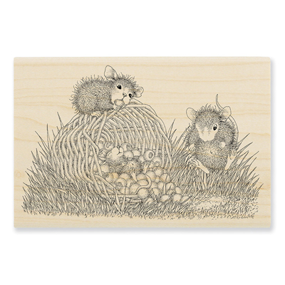 Berry Basket Rubber Stamp - House-Mouse Rubber Stamp