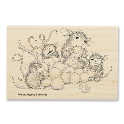 Grape Snack - House-Mouse Rubber Stamp
