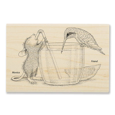 Share A Sip - House-Mouse Rubber Stamp