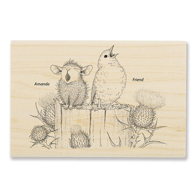 Sing A Song - House-Mouse Rubber Stamp
