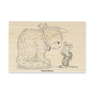 GIFT FOR KITTY - House-Mouse Rubber Stamp