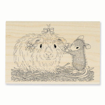 PRETTY GUINEA - House-Mouse Rubber Stamp