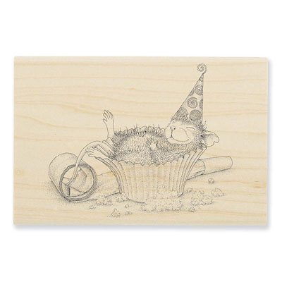 CUPCAKE COMA - House-Mouse Rubber Stamp