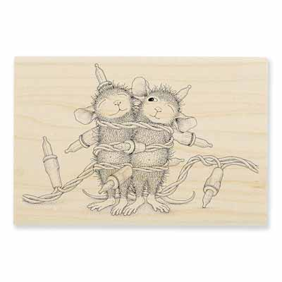 LIGHT WRAPPING - House-Mouse Rubber Stamp