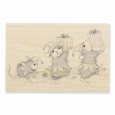 ELF GIFTS - House-Mouse Rubber Stamp