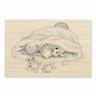 SNOW CAP NAP - House-Mouse Rubber Stamp