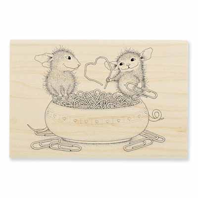 PAPER CLIP HEART - House-Mouse Rubber Stamp