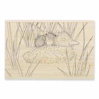 DUCKY NAP - House-Mouse Rubber Stamp