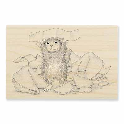 FORTUNE COOKIE SAYS - House-Mouse Rubber Stamp