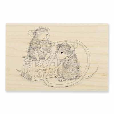NURSE MOUSE - House-Mouse Rubber Stamp