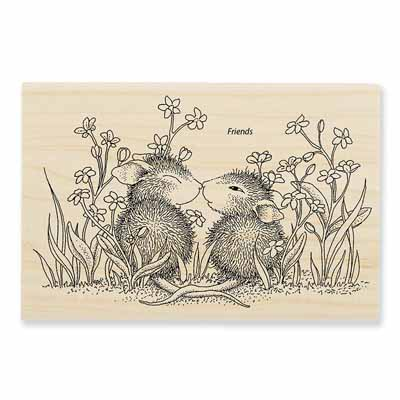 GARDEN KISS - House-Mouse Rubber Stamp