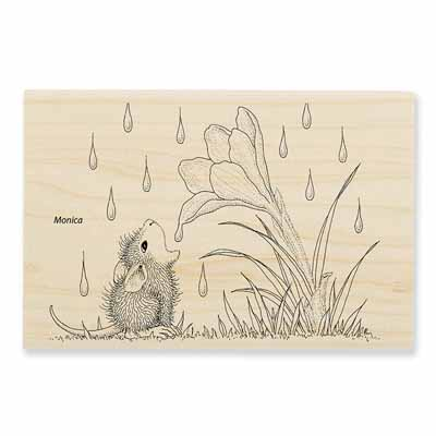 CROCUS DROPLET - House-Mouse Rubber Stamp