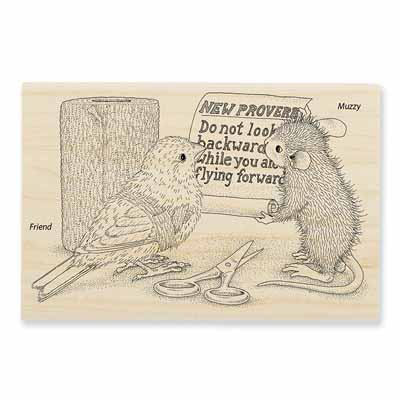 NEW PROVERB - House-Mouse Rubber Stamp