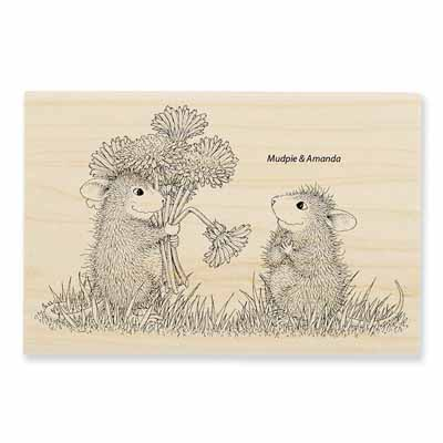 DANDELION BOUQUET - House-Mouse Rubber Stamp