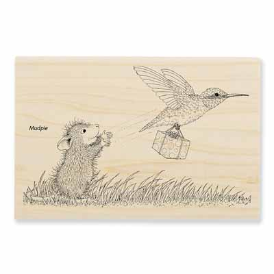 CARRIER HUMMER - House-Mouse Rubber Stamp