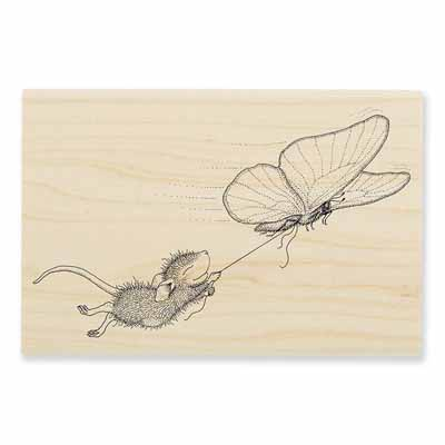 BUTTERFLY RIDE - House-Mouse Rubber Stamp