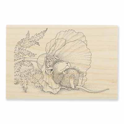 POPPY NAP - House-Mouse Rubber Stamp