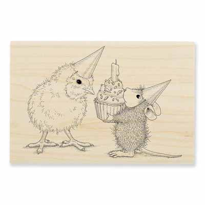 BIRTHDAY CHICK - House-Mouse Rubber Stamp