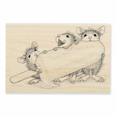 ICE POP TREAT - House-Mouse Rubber Stamp