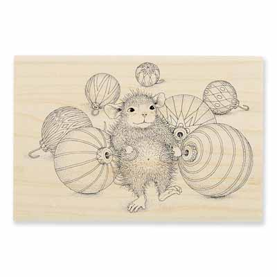 Ornament Collecting - House-Mouse Rubber Stamp