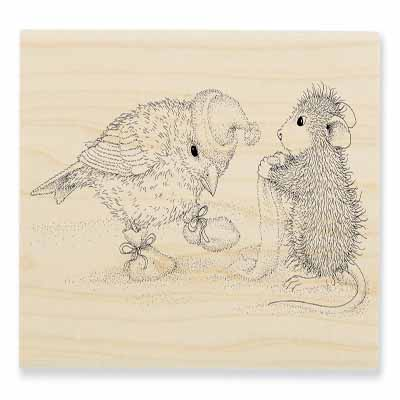 Birdie Booties - House-Mouse Rubber Stamp