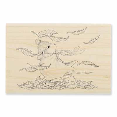 Autumn Winds - House-Mouse Rubber Stamp