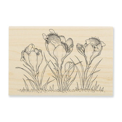 Crocus Nap - House-Mouse Rubber Stamp