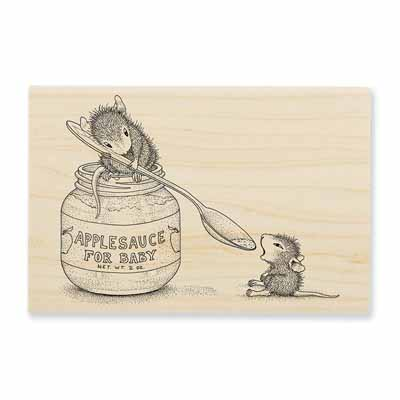 Feeding Baby Rubber Stamp - House-Mouse Rubber Stamp