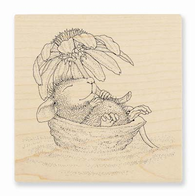DAISY FLOAT - House-Mouse Rubber Stamp