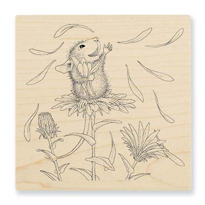 SHE LOVES ME - House-Mouse Rubber Stamp