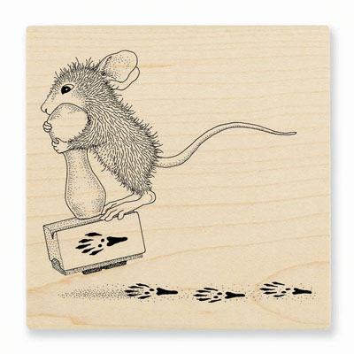 MAKING PRINTS - House-Mouse Rubber Stamp