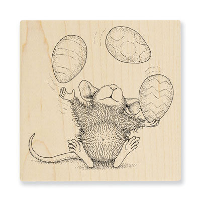 Easter Egg Juggle - House-Mouse Rubber Stamp