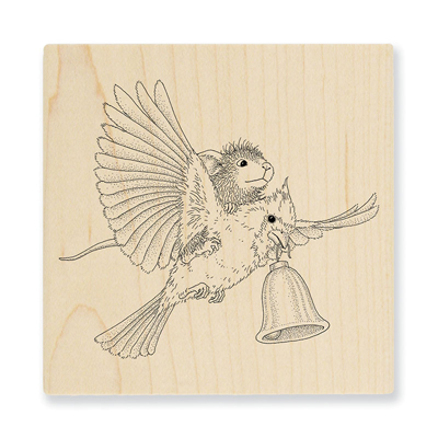 Cardinal Bell Rubber Stamp - House-Mouse Rubber Stamp