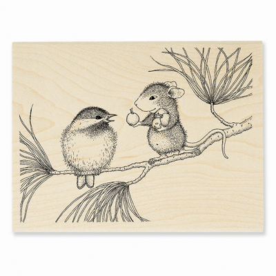BERRYING GIFTS - House-Mouse Rubber Stamp