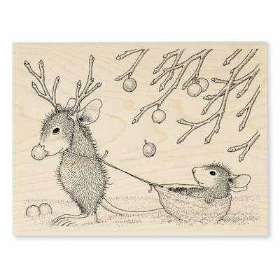 REINDEER GAMES - House-Mouse Rubber Stamp